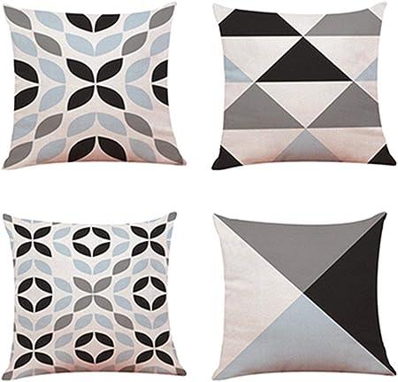 ShangSRS 4PC/Conjunto Fundas Cojines 45x45 Geométricas Modernos Funda de Cojines para Sofa Jardin Cama Decorativo (C): Amazon.es: Hogar