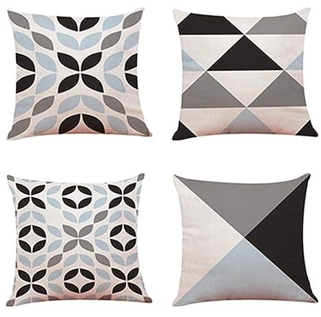 ShangSRS 4PC/Conjunto Fundas Cojines 45x45 Geométricas Modernos Funda de Cojines para Sofa Jardin Cama Decorativo (C)