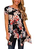 Tovly Women Plus Size Long Sleeve Tunic Tops Loose Floral Print Shirt Blouses