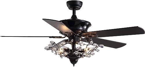 7PMBEANE Crystal Fandelier Ceiling Fan