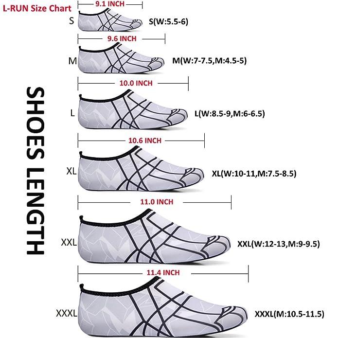 L-RUN Antiskid Waters Shoes for Men Large Size Breathable Dark Grey XXXL(M: 10.5-11.5): Amazon.ca: Shoes & Handbags