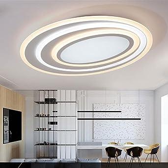 58W LED Rund Klassisch Kreativ Deckenleuchte Modern Einfach Metall  Deckenleuchte Dumm Weiß Wohnzimmer Studie Art Eleganter Decke Beleuchtung  ...