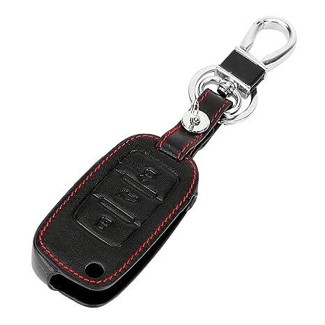 AUOVO carcasa llave Piel 3 botones Carcasa Llave para Golf 7 ...
