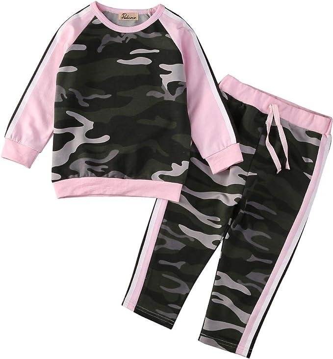 Amazon.com: Juego de ropa de 2 piezas para niños y niñas, de ...
