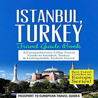Istanbul travel guide books for sale outside a shop, istanbul.