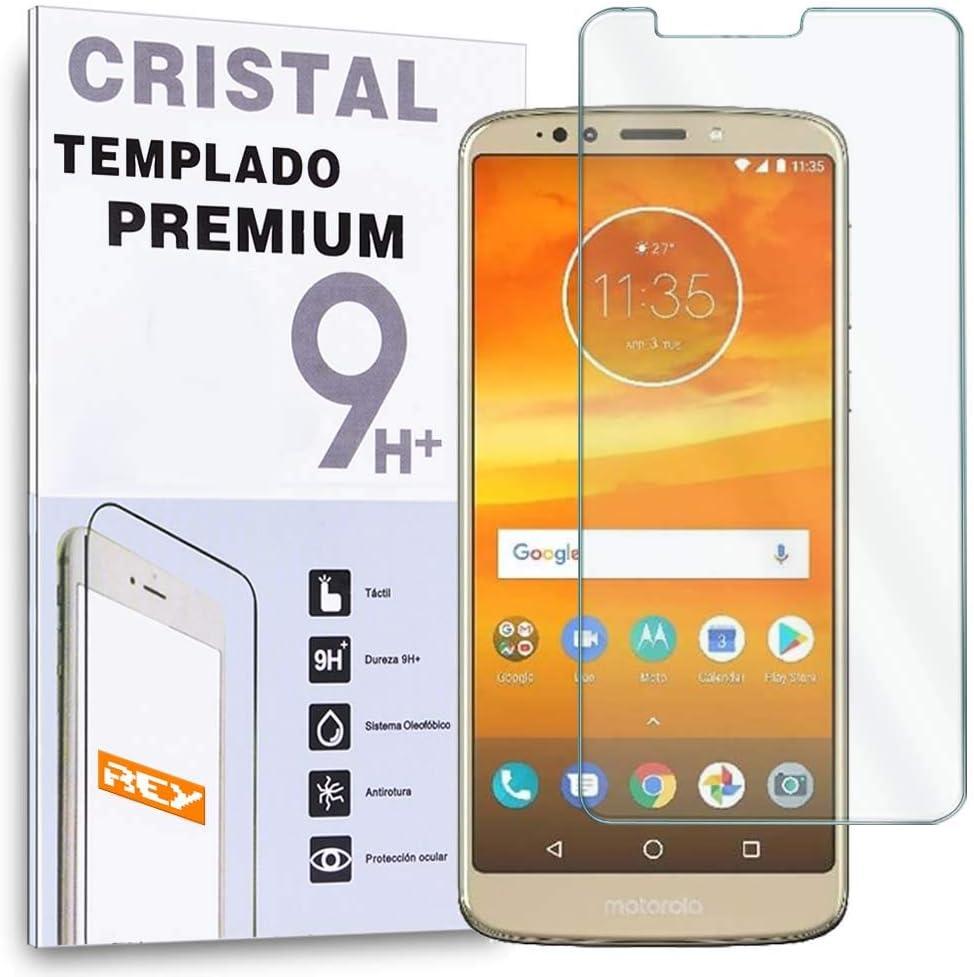 REY Protector de Pantalla para Motorola Moto E5, Cristal Vidrio Templado Premium: Amazon.es: Electrónica