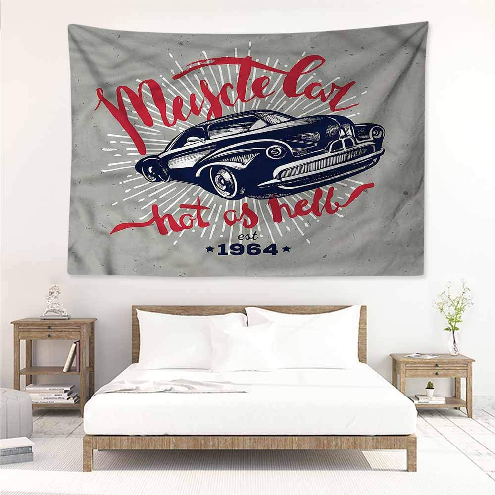 Amazon.com: Sunnyhome Tapestry for Living Room,Cars Muscle ...