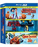 Cloudy With a Chance of Meatballs, Monster House & Open Season Triple Pack [Blu-ray 3D] [Region Free]