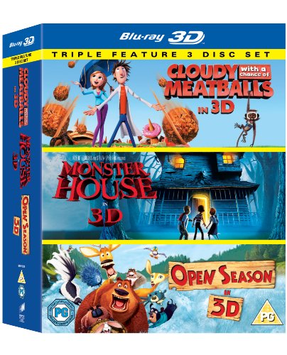 Cloudy with a Chance of Meatballs - Monster House - Open Season (Blu-Ray 3D) Triple Pack (Monster House Tv Series)