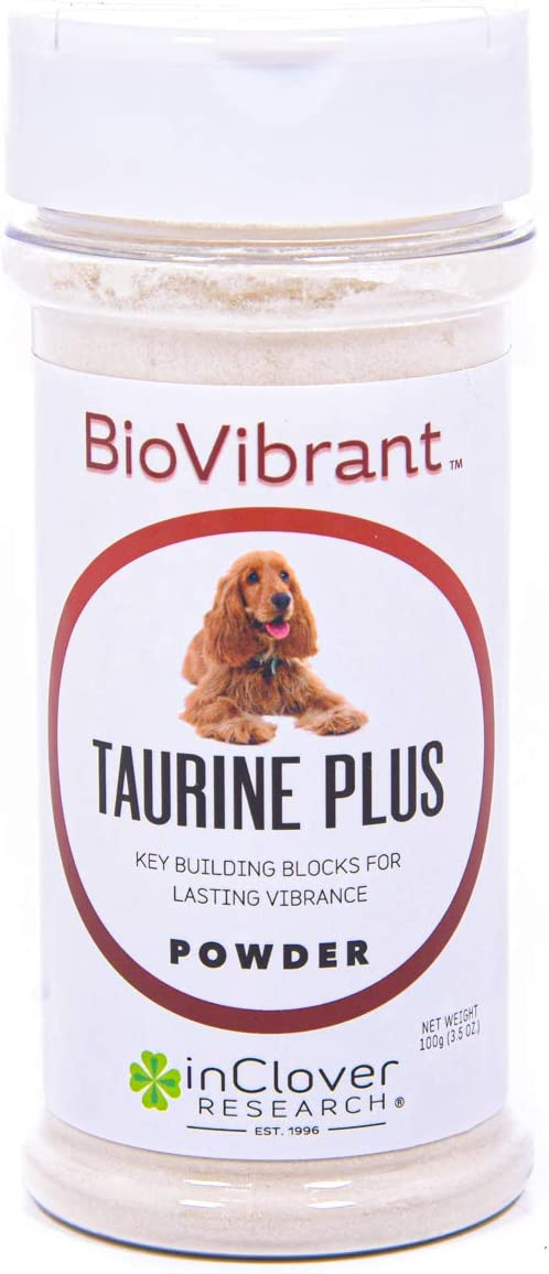 InClover BioVibrant Taurine Plus 4 in 1 Supplement for Dogs and Cats Adds Taurine and L-Carnitine to Support Heart, Brain, and Immune Health