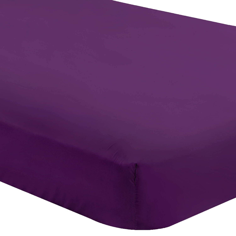 Bare Home Fitted Bottom Sheet Full Hypoallergenic Full, Dark Blue Deep Pocket Premium 1800 Ultra-Soft Wrinkle Resistant Microfiber