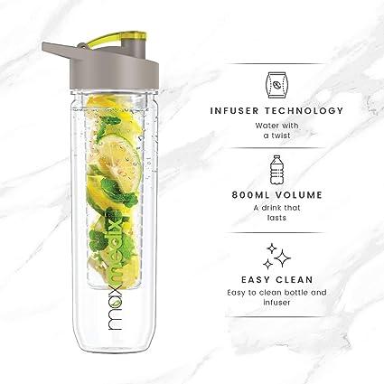 Fruit de Infuser de Water de Bottle | Botella para rellenar con agua y fruta |. Pasa ...