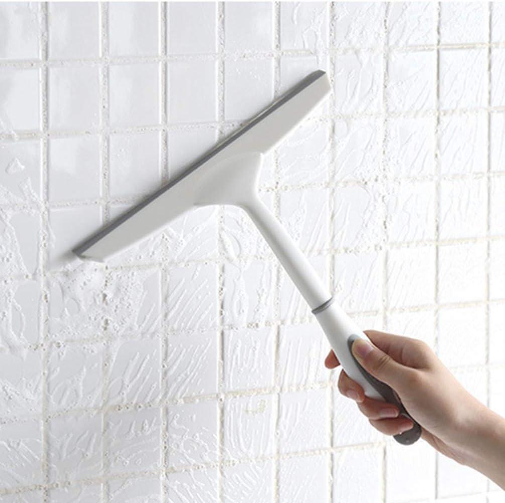 25x25cm blanc + gris TOPBATHY 2pcs fen/être raclette et laveur de vitres essuie-glace grattoir grattoir outil de nettoyage pour rondelle de verre miroir voiture