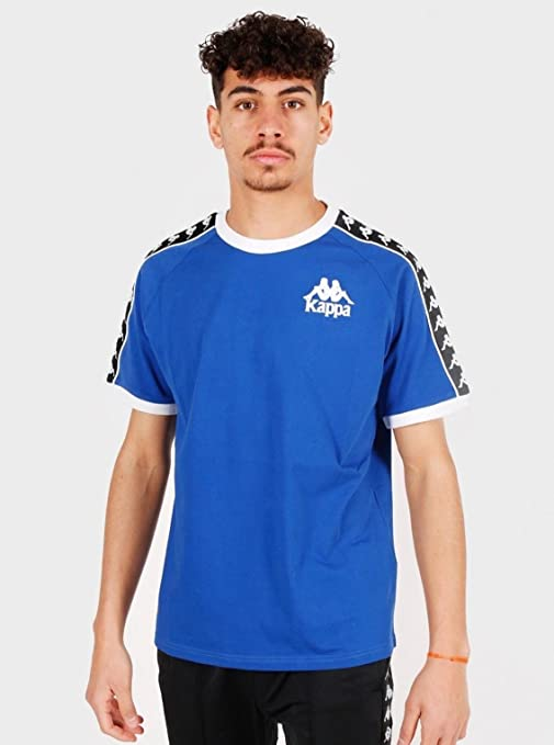 Kappa Raul Auth Camiseta, Hombre, Azul/Negro/Blanco, XS