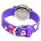 Vavna Little Girls Boy Waterproof 3D Watch Cute