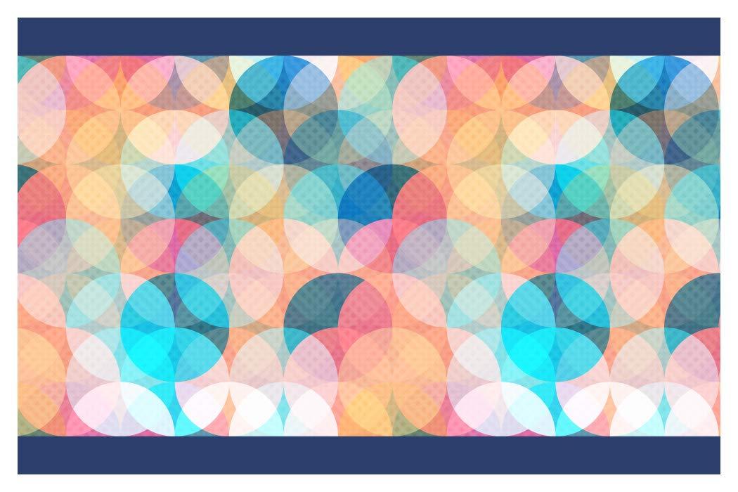 I-love-Wandtattoo b-10179 - frontera círculos coloreados, Deco de la pared pegatinas de pared pegatinas de pared Adhesivos de pared
