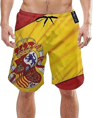 EU Pantalones Cortos de Secado rápido con Forro Deportivo de Flag of Spain para Hombre: Amazon.es: Ropa y accesorios
