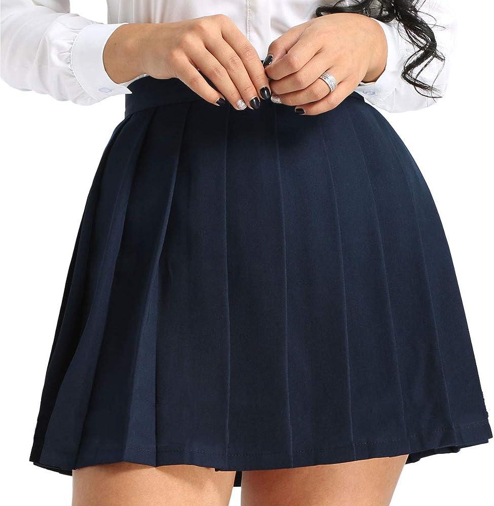 inhzoy Falda Plisada Escocesa para Mujer Chica Cosplay Falda de ...