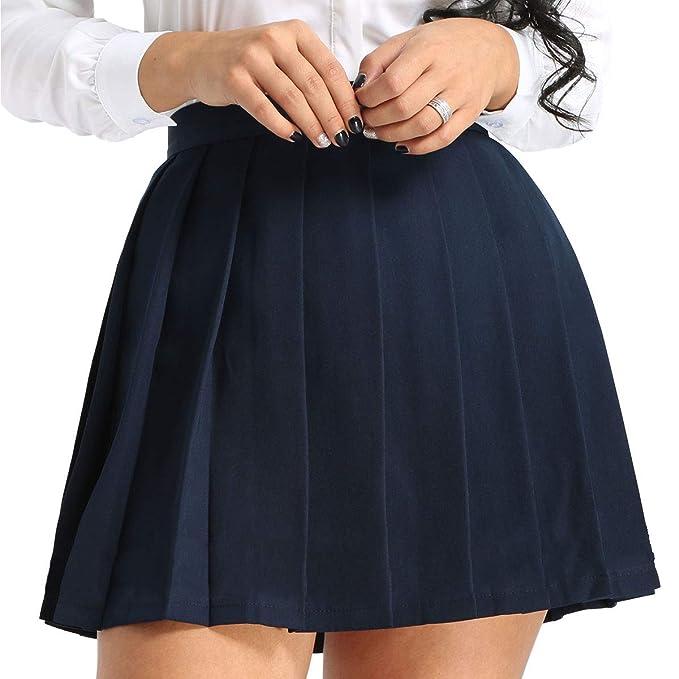 ranrann Falda Plisada para Mujer Falda Escolar Japónes Cuadros ...
