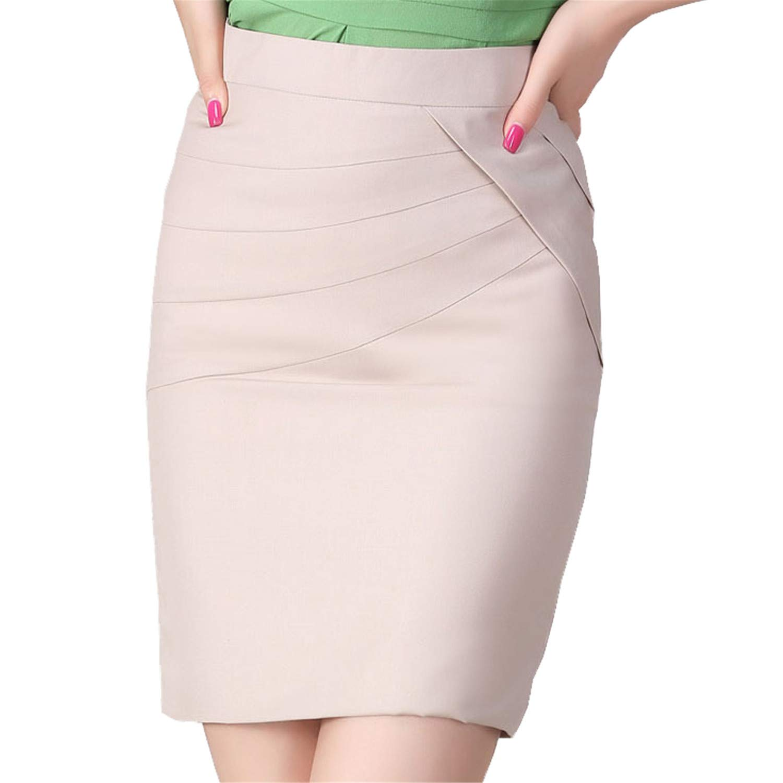 b298b73971 Women Skirt Summer Women Skirts Office Formal Pencil Skirts Casual Sexy  Slim High Waist Knee-Length Midi Skirt at Amazon Women s Clothing store
