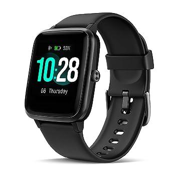 LATEC Smartwatch, Reloj Inteligente Impermeable con Pulsómetro, Pulsera Actividad Inteligente Hombre Mujer Niños para Android iOS Xiaomi Huawei iPhone