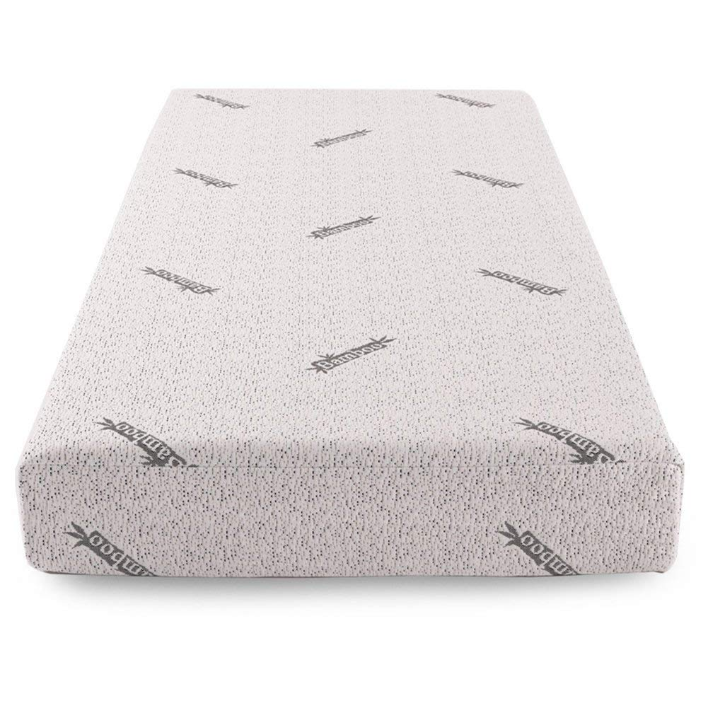 Comfort & Relax Memory Foam Mattress with Gel-infused AirCell Tech, Bamboo Fabric Cover, 8 Inch TWIN by Comfort & Relax
