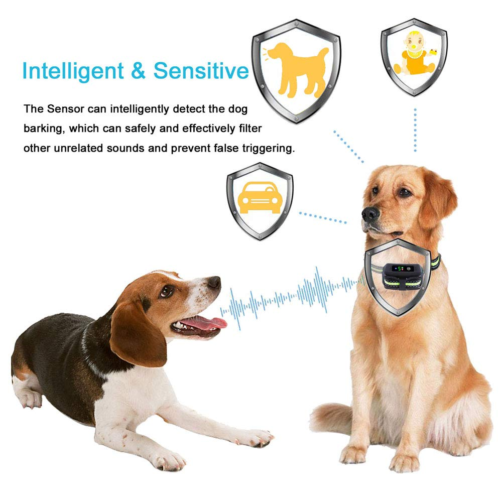 [Newest 2019]Dog Bark Collar-5 Adjustable Sensitivity and Intensity Levels-Dual Anti-Barking Modes-Rechargeable/Rainproof/Reflective -No Barking Control Dog shock Collar for Small Medium Large Dog by PetYeah (Image #4)