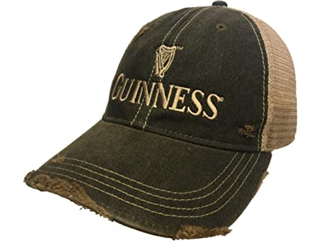 1e78ef63 Image Unavailable. Image not available for. Color: Guinness Beer Retro  Brand Gray Mesh Adjustable Snapback Trucker Hat Cap