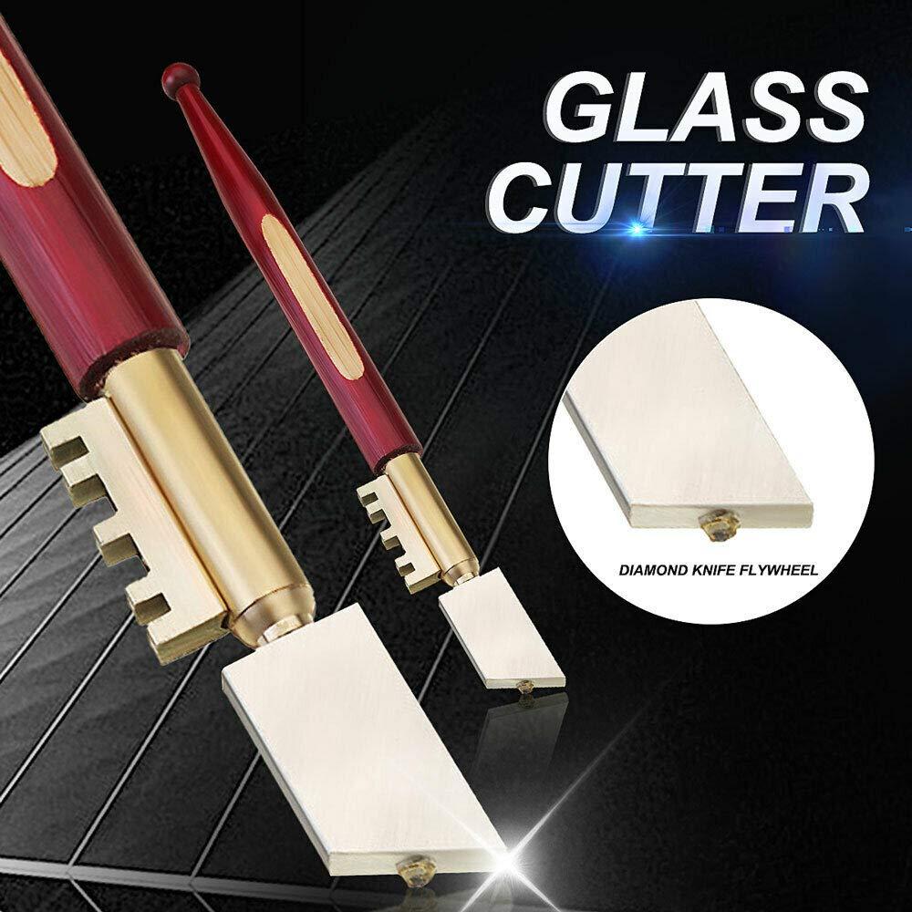 Glasschneider zum Schneiden von Glas bis zu 8 mm Dicke Hartholzgriff strapazierf/ähig Diamant-Glasschneider Messingschnapper Senris Glasschneider Diamant-Spitze