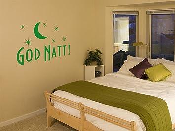 Graz Design Wandtattoo God Natt | Tattoo Schlafzimmer | Wand Deko Spruch In  47 Farben