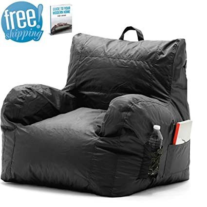 Chill Bean Bag Chair Black Portable Eco Friendly Office Wipeable Outdoor  Sports Waterproof Camping Comfy Bedrooms