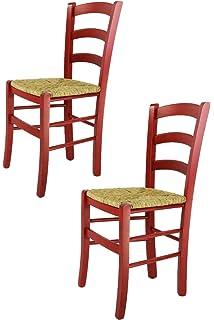 D' Hêtre Finition Bois En Laquée Assise Et Chaise Rouge Massif QdBrEoWxeC