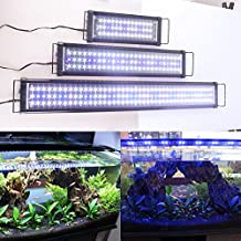 Zeiger Eco Aquarium Hood Led Lighting Fish Lamp Freshwater and Saltwater decorations Light, White and Blue Adjustable 48'' - 60 (5730 LED 48 inch 39W)a060 by Aquarien Eco
