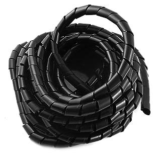 Polietileno Negro en Espiral de banda de 14 mm del cable de alambre 8m Administrador