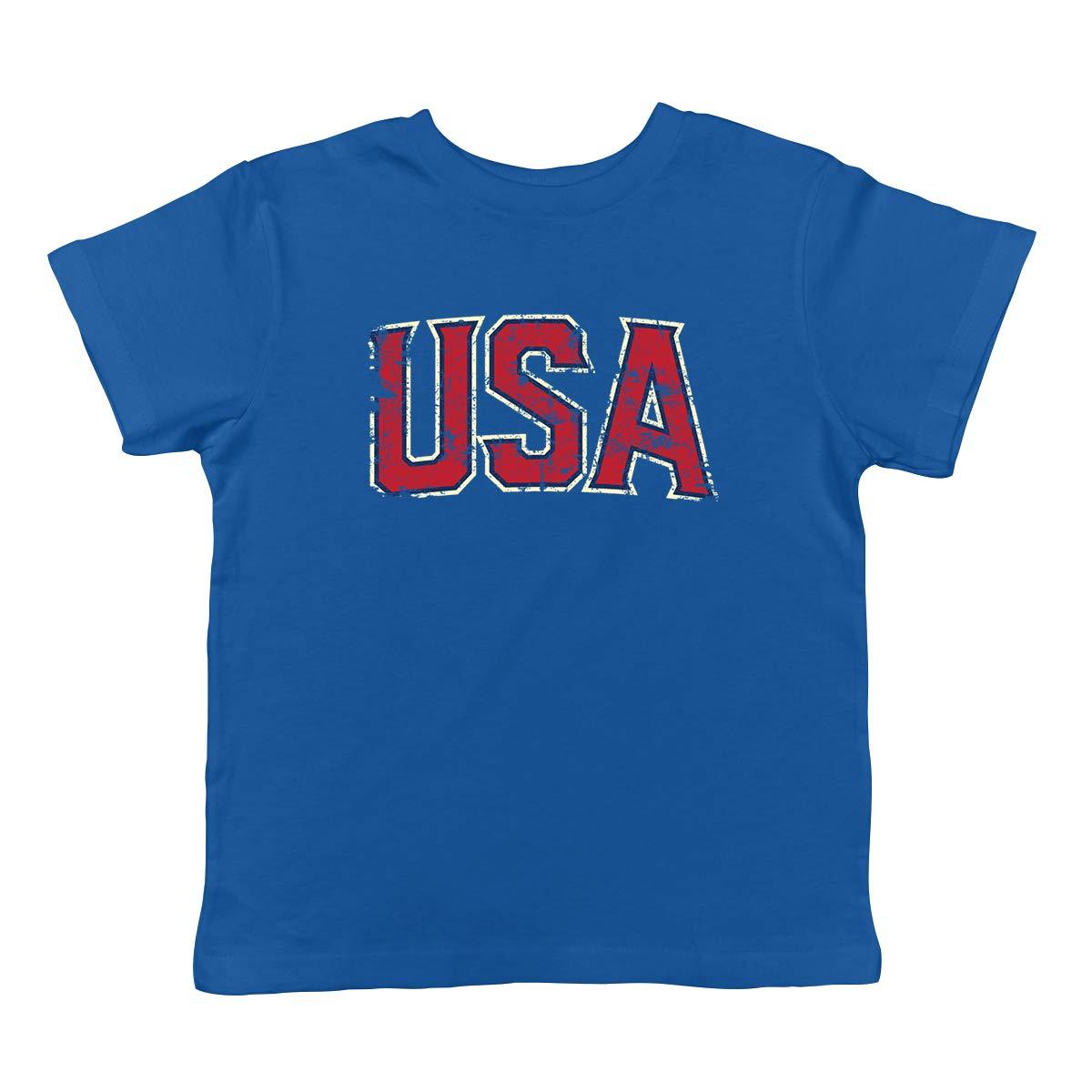 SpiritForged Apparel Vintage USA Patriotic America Infant T-Shirt Royal 6 Months