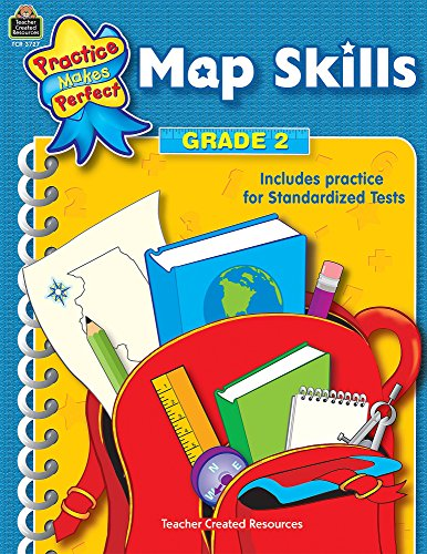 Map Skills Grade 2 (Practice Makes Perfect (Teacher Created Materials))