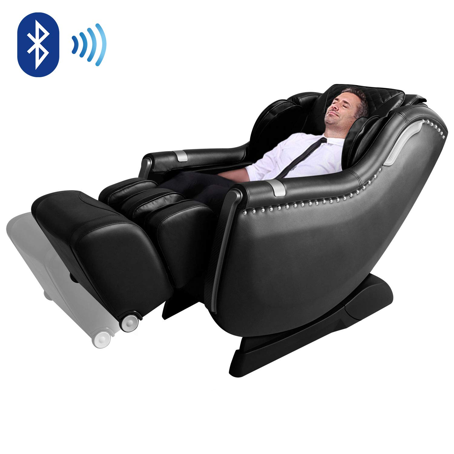 Massage Chair by OOTORI, Zero Gravity Massage Chair, 3D Full Body Massage Chairs and Recliner with Space Saving, Yoga Stretching, SL Track, Bluetooth Speaker, Heat,Foot Roller Vibrator
