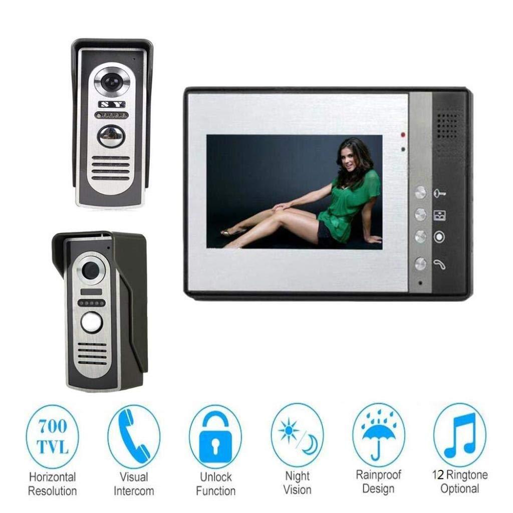 最安値級価格 カメラビデオインターホンドアベル B07R3YTJJW、7インチビジュアルドアベルシステムナイトビジョン防水ドアベル B07R3YTJJW, リットウシ:3485fa11 --- dou13magadan.ru