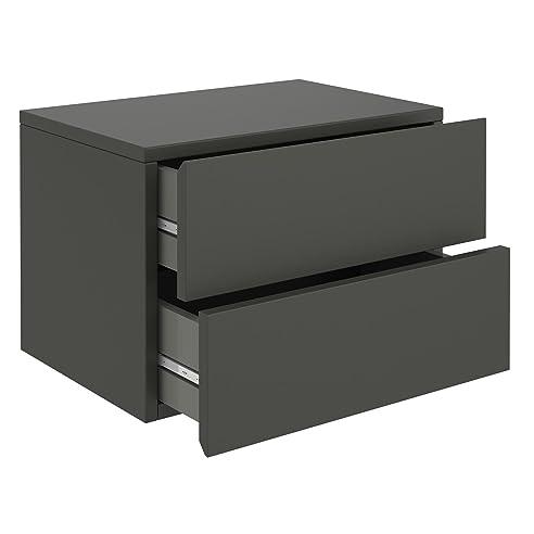wandregal mit schublade grau. Black Bedroom Furniture Sets. Home Design Ideas