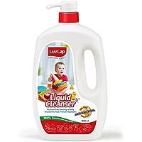 Luvlap Anti-Bacterial Baby Bottles Accessories and Vegetable Liquid Cleanser, 1000ml