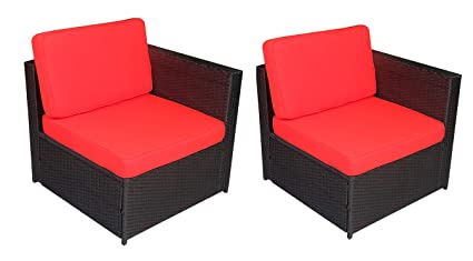 Amazoncom Mcombo Outdoor Rattan Wicker Sofa Couch Patio Furniture