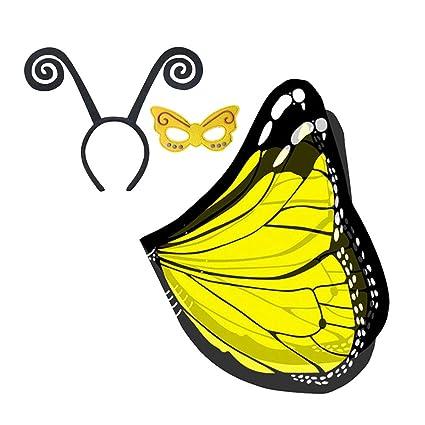 BESTOYARD Traje para niños Mariposa ala Máscara de Diadema para la Fiesta de Carnaval Cosplay Decoración