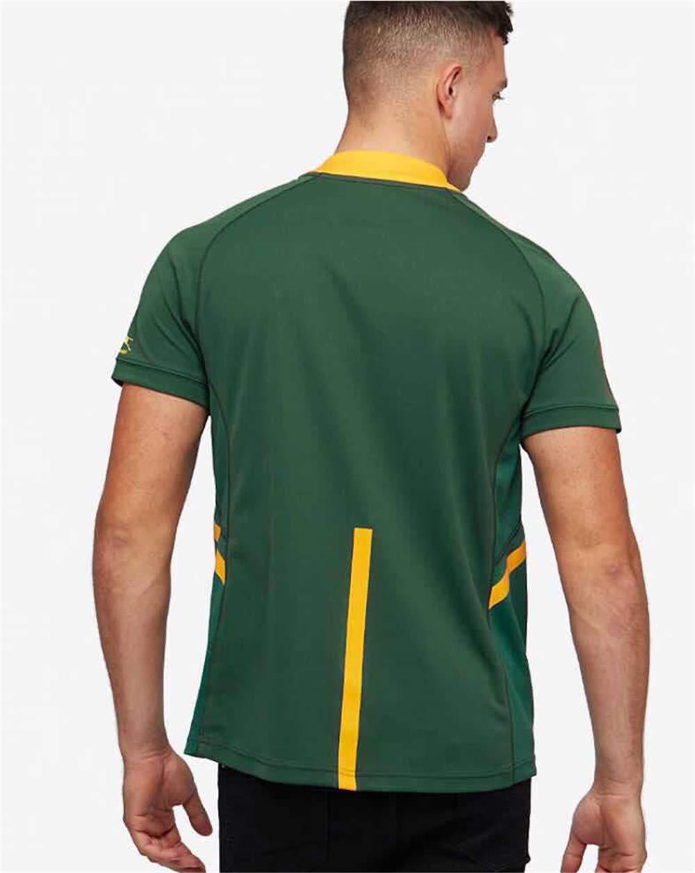 HBRE Rugby Jersey,2019 Cotton Jersey T-Shirt,Camiseta De Rugby Sud/áFrica,Camiseta De F/úTbol Local,Manga Corta Deportiva De Secado R/áPido,Ropa Deportiva De F/úTbol S-3xl