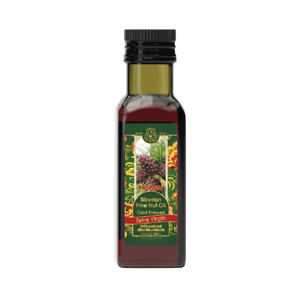 Siberian Pine Nut Oil Cold Pressed Extra Virgin 3.4 fl oz/100 ml by Flora Aromatics