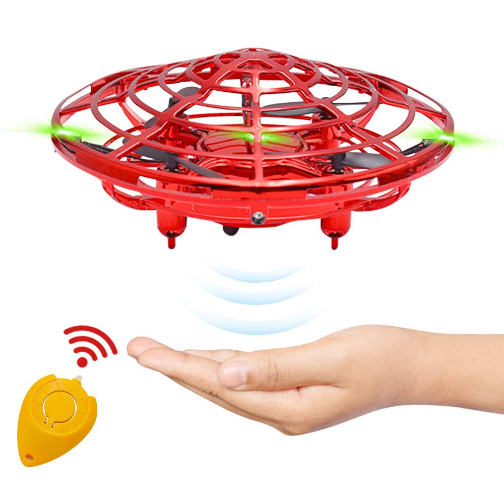 CPSYUB Hand Operated Drones for Kids or Adults, Toys for 4-5 Year Old Boys, Hands Free Kids Drone Toys for 3, 4, 5, 6, 7, 8, 9 Year Old Boys and Girls, Flying Ball Drone for Kids Toys Gift (Red) by CPSYUB
