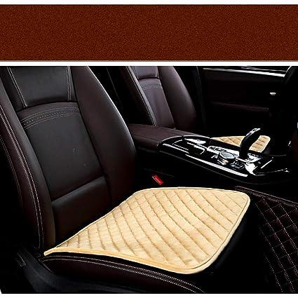 amazon com beige front seat covers plush car cushion seat universal