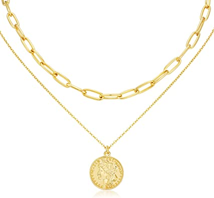 18k gold plated necklace with pendant