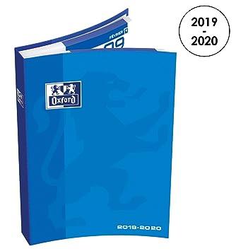 Oxford School agenda escolar (años 2017 – 2018 1 día por página 352 páginas 12 x 18 cm) azul