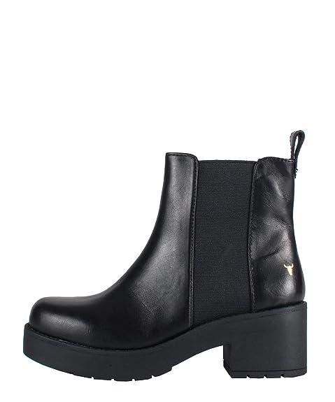 Con Windsor Black In Stivaletti Eagar Neri Smith Pelle Boots kZOuPXTiw