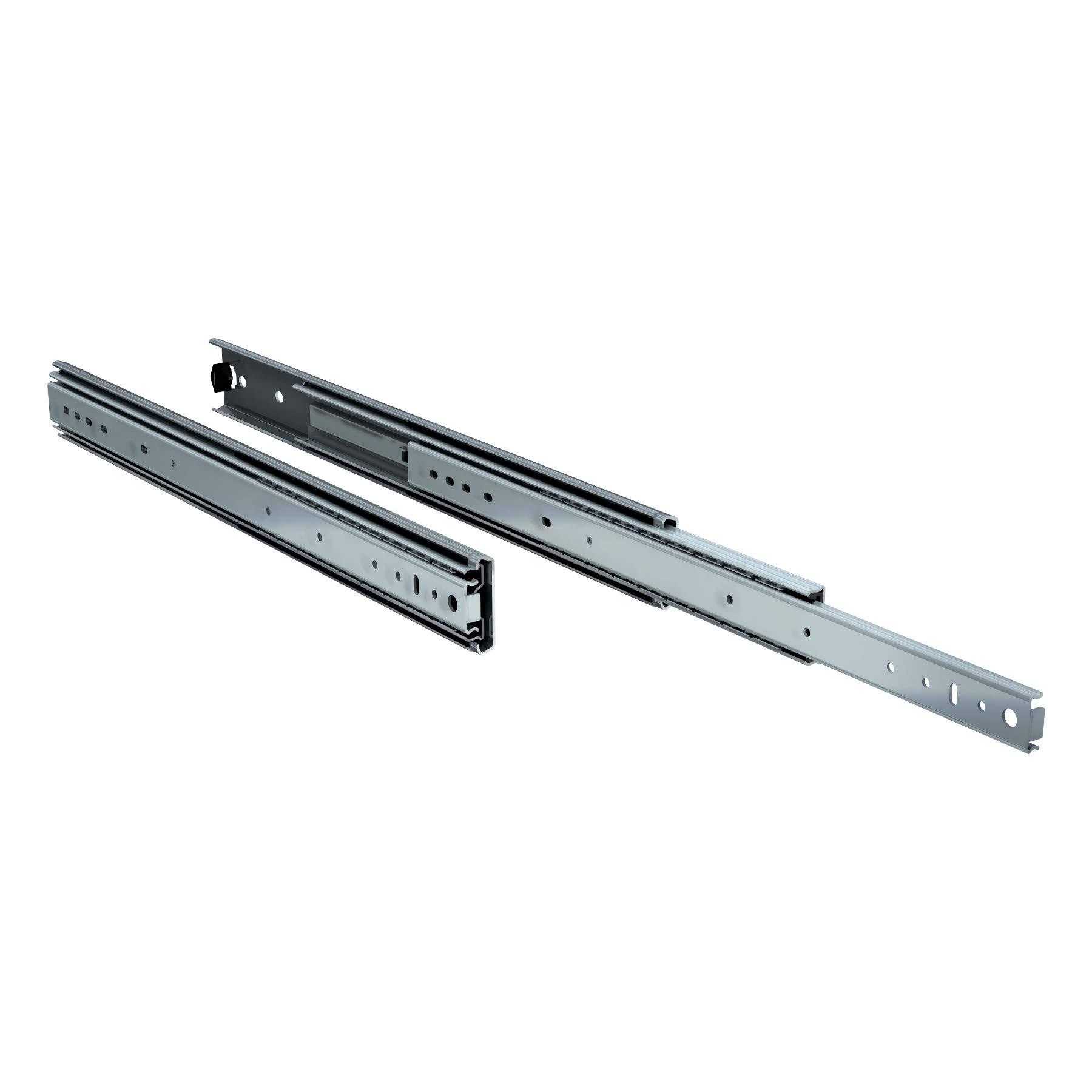 TCH Hardware 2 x 22 inch 250 lb Heavy Duty Steel Drawer Slides - Full Extension with Over Travel Ball Bearing - Kitchen Cabinet Desk Draw